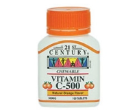 21st Century Vitamin C-500 Orange (Chewable) (pack size 60)