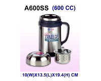 BUBEE Stainless Steel Insulated Vacuum 600ml Cup w/tea strainer