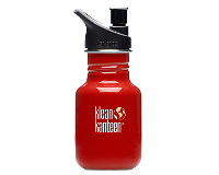 12oz/355ml Klean Kanteen Classic - sports cap (indicator red)