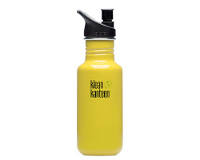 18oz/532ml Klean Kanteen Classic - sports cap (solar yellow)