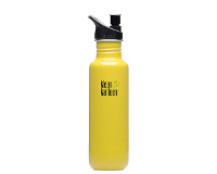27oz/800ml Klean Kanteen Classic - sports cap (solar yellow)