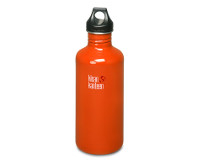 40oz/1182ml Klean Kanteen Classic - poly loop cap (Flame Orange)