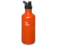 40oz/1182ml Klean Kanteen Classic - sports cap (Flame Orange)