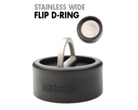 Klean Kanteen Accessories Stainless Wide Flip D-Ring Cap