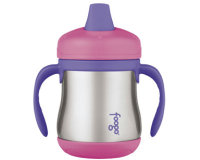 Thermos Foogo 7oz/200ml Sippy Cup with handle (Pink)